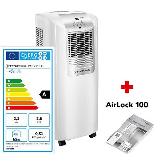 TROTEC Lokales mobiles Klimagerät PAC 2010 X inkl. Airlock 100 mit 2,1 kW   2-in-1-Klimagerät: Kühlung und Ventilation
