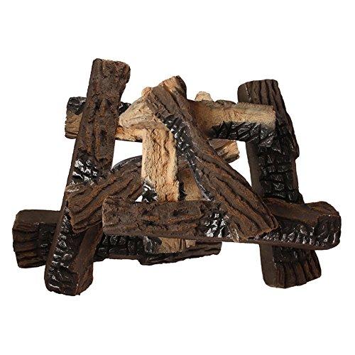Mode Flamme Holz-8Keramik Kamin Register (Keramik-holz-log-set)