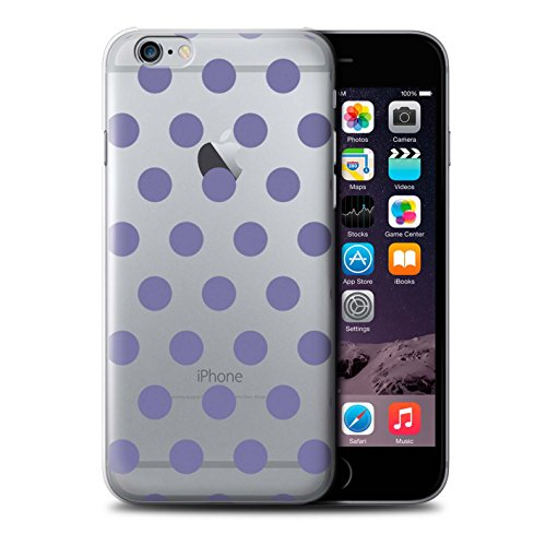 Stuff4 Hülle / Case für Apple iPhone 6 / Silber Muster / Dotty Punktmuster Kollektion Lavendel Lila