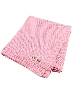 Per Organic Cotton Knitted Baby Decke Swaddle Empfangen Decken für Neugeborene Jungen Mädchen Kinder