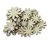 ULTNICE Fiore di legno 50pcs pulsanti prugna Scrapbooking Embelishment decorazione di nozze