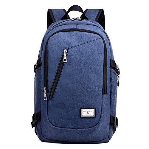 Brinny Slim Business Laptop Rucksäcke wasserdicht Reisetasche Computer Rucksack Blau