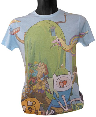 Adventure Time Finn und Jake 's Treehouse Sublimation Print T-Shirt (X-Large) (Adventure Time Ice King)