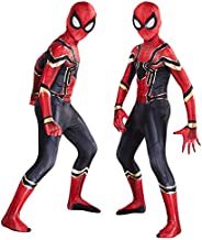 2019 New Children's boys costume Iron Spiderman:far from home Peter Parker Cosplay Costume Spiderman pattern Body Bodysuits