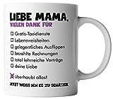 vanVerden Tasse Liebe Mama vielen Dank für Alles Danke Mama Geschenk Mutter, Farbe:Weiß/Bunt