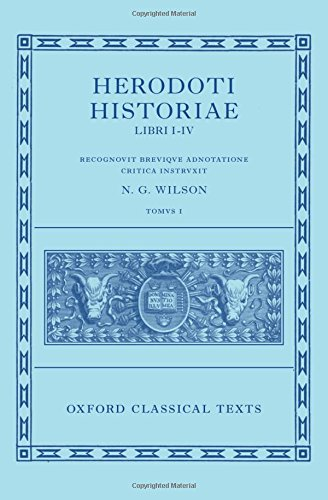 Herodotus: Histories, Books 1-4 (Herodoti Historiae: Libri I-IV) (Oxford Classical Texts)