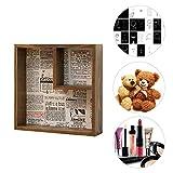 Biback Innovative Wandbehang Rack Square Massivholz Kleinigkeiten Aufbewahrungsbox für Home Wohnzimmer Schlafzimmer Raumdekoration
