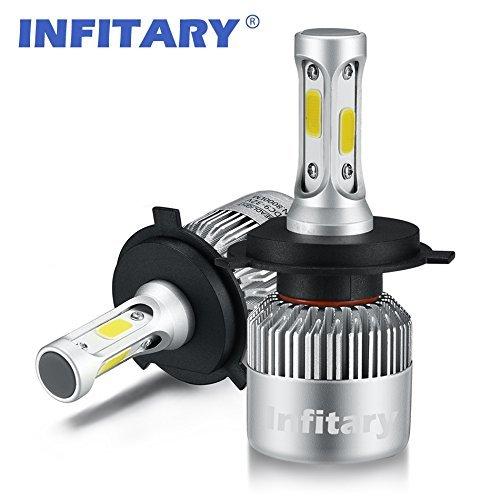 Hid Spot-beam-lampe (Infitary H4/H7 LED Headlight Bulbs Glühbirnen Hi/ Lo Beam Autoscheinwerfer, Dual Beam Head Light, 72W 6500K 8000LM extrem super helle COB Chips Umbausatz für Auto - 1 Paar - 1 Jahr Garantie (H4/9003/HB2 Hi/Lo))