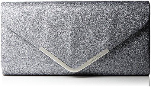 Tamaris Damen Brianna Clutch Bag, Silber (Silver), 13x5x26 cm