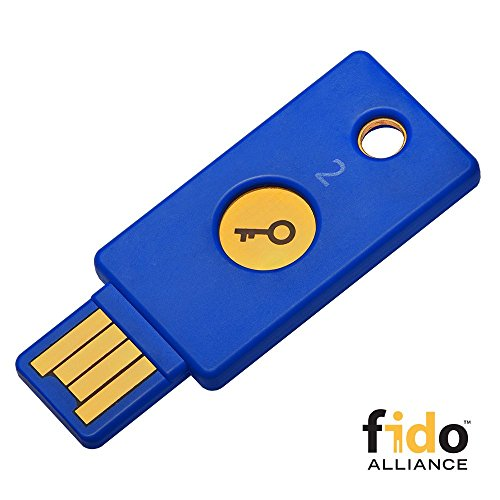 Yubico - Llave de Seguridad U2F y FIDO2, USB-A, autenticación de Dos factores