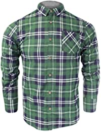 d77f641ca5e81 Brave Soul Mens Check Shirt Jack  Flannel Brushed Cotton Long Sleeve Casual  Top S-