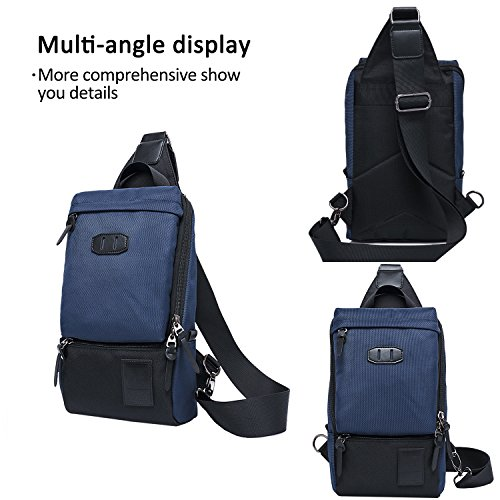 FANDARE Mode Outdoor Sports Rucksack Sling Bag Umhängetasche Messenger Schultertasche Reisen Wandern Daypack Crossbag Crossbody Bag Chest Pack Reisetasche Wasserdicht Polyester Blau Blau