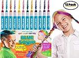 Haarkreide für Kinder Haarfarbe- 12 Haarkreide-Set - Auswaschbare Temporäre Haarfarbe - Geschenke...