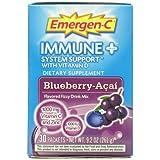 Emergen-C - Immune Plus System Support avec Vitamine D Myrtilles Acai 30 Sachets