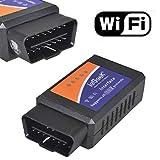 ieGeek OBD WiFi OBD2 Mini Adaptateur Sans-Fil Scanner Code de Défaut pour Véhicule Mini Outils - Connexion via WiFi sur Téléphone ( iPhone et Android) - 3000 Code Base de Données