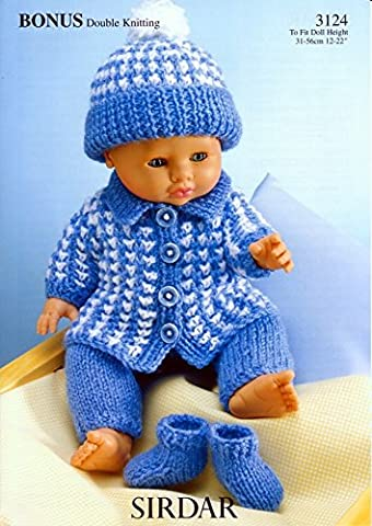 Sirdar 3124 Bonus Double Knitting Dolls Clothes Pattern, by Sirdar