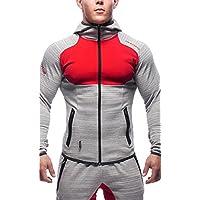 UMilk Hombres sudadera con capucha Sudadera Zipper Pockets Jacket Jogger Pants(Sudaderas y pantalones se venden por separado)