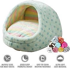 Heylookhere Cat Bed Hundebettkissen mit Weicher Decke Beige