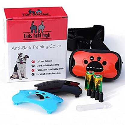 Tails Held High Anti Bark Dog Training Collar uses Sound and Vibration Only, Safe and Humane No Barking Device, 7… 2