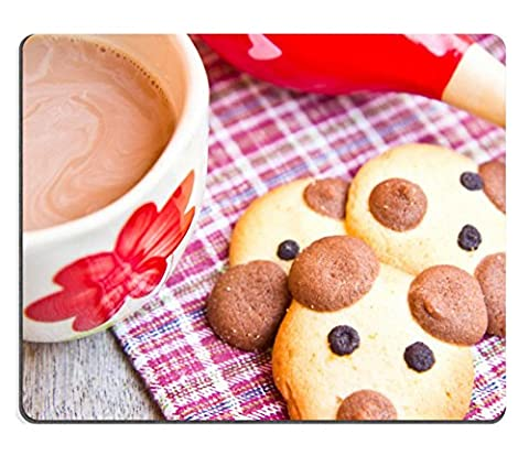 MSD Mousepad IMAGE 36263868 Hot chocolate with teddy bear cookies