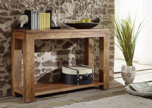 Holz honig Konsolen Tisch massiv Massivholz Möbel Shaman #12 (Konsole Tisch 12)