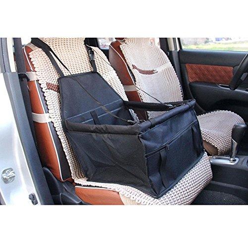 AOLVO Autositz Booster für Hunde, tragbar Faltbare Hundebox Auto Sitz Hund Booster Autositz Autositz für Haustiere Hund Autositz Displayschutzfolie Bucket KFZ-Travel Zubehör wasserdicht rutschfeste Tasche für Haustiere Schwarz