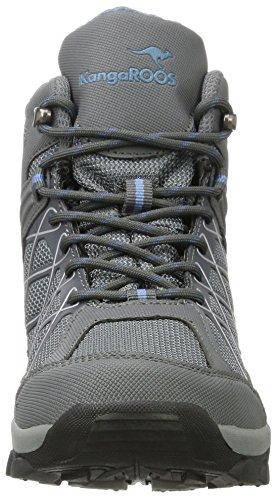 KangaROOS Loop Hi, Baskets Hautes Mixte Adulte Grau (Steel Grey/Faded Blue)