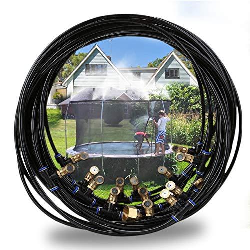 Mogokoyo Outdoor Misting System Zerstäuberfunktion System Wasserschlauch Nebeldüsen Spray Kühlsystem für Trampolin (20m für Trampolin) -