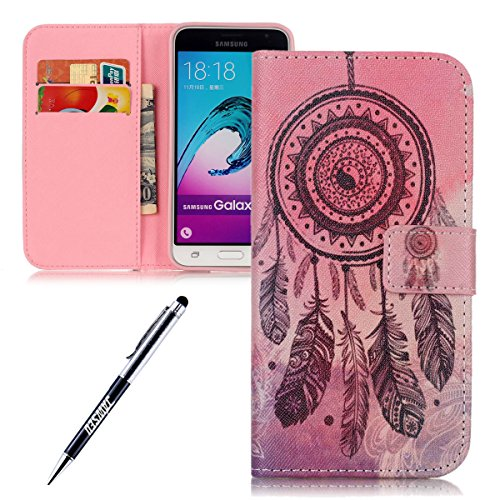 JAWSEU, Stivaletti bambine Dreamcatcher,Black Feather Samsung Galaxy J3(2015)