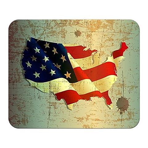 Mauspad Weltenbummler Flagge USA bedruckt