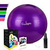 Anti-Burst Gymnastikball Sitzball Fitnessball 65cm inklusive Pumpe,300kg Maximalbelastbarkeit Pezziball Swissball Yogaball,Lila