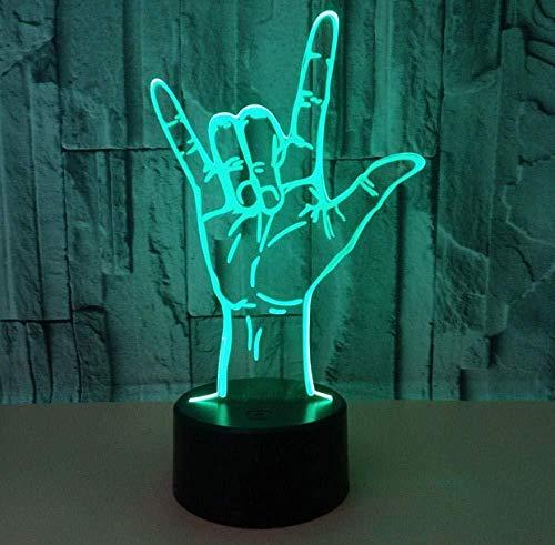 3D Illusion Nachtlicht Bluetooth Smart Control 7 & 16M Farbe Mobile App Led Vision Himmel Tunnel Unendlichkeit Spiegel Nette Finger Familie Spaß bunte kreative Geschenk