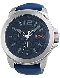 BOSS Orange Herren-Armbanduhr NEW YORK Multieye Analog Quarz Silikon 1513348