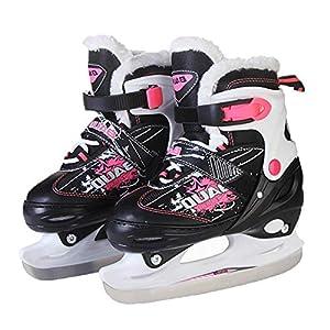 Rollschuhe, verdickte Eishockeyschuhe einstellbare Größe für Kinder und Erwachsene