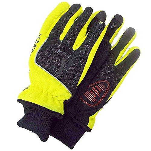 VeloChampion Deep Winter Wasserdichte Radhandschuhe Cycling Gloves (Black/Fluoro Yellow/Silver, XS) (Winter-handschuh Assos)