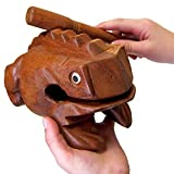 "World Percussion USA FR08N Deluxe JUMBO 8"" Wood Frog Guiro Rasp - Musical"