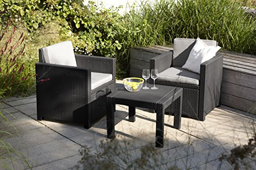 Allibert Lounge Set Victoria Balcony, Grau, 3-teilig - 2