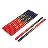 sourcingmap® Double tête école dessin crayon charpentier Mark écrit Rouge Bleu 10pcs
