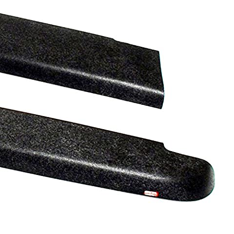 Wade 72-40171 Truck Bed Rail Caps Black Smooth Finish without