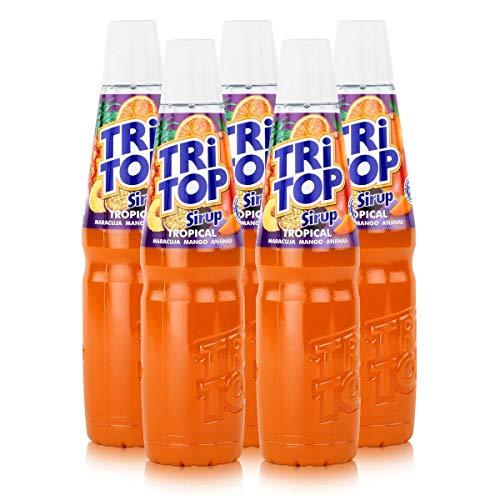 Tri Top Getränke-Sirup Tropical 600ml - Maracuja, Mango, Ananas (5er Pack)