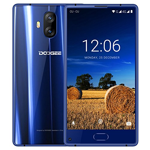 Smartphone Ohne Vertrag Günstig, DOOGEE Mix Lite 4G Dual Sim Handy Android 7.0 mit Fingerabdrucksensor, 5.2 Zoll HD IPS Display, 2GB RAM 16GB ROM, MT6737 Quad Core, Dual 13 MP Hauptkamera - Blau (13.0 Lcd-display)