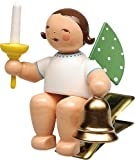Engel mit Glocke und Kerze, auf Klemme 650/90/53 von Wendt & Kühn
