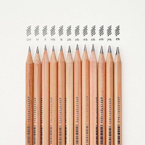 3001–12TN Fine Art Bleistift Zedernholz Körper & Vielseitige Härte von Stift-Tipps für Skizzieren Art Creation in exquisiter Eisen box-lightwish