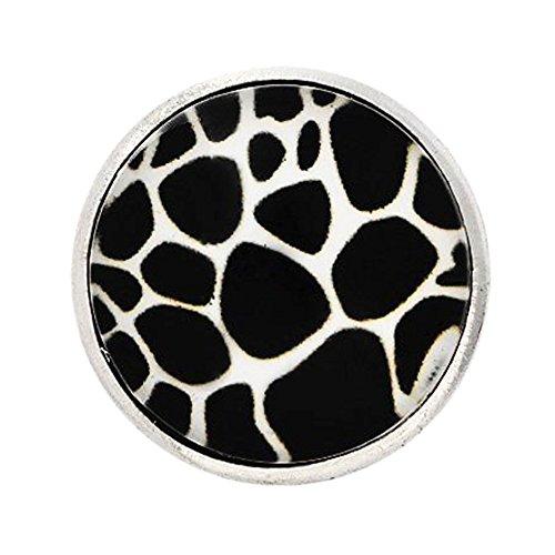 Zebra Armband (Andante CHUNK Click-Button Druckknopf (Zebra) für Chunk-Armbänder, Chunk-Ringe und andere Chunk-Accessoires)