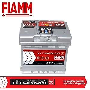 fiamm l1 54 titanium plus batterie voiture 54 ah 520 a p le positif droite. Black Bedroom Furniture Sets. Home Design Ideas
