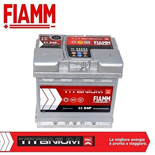 Fiamm L1 54P Batteria Avviamento Auto Titanium Pro 12V 54Ah 520A/EN