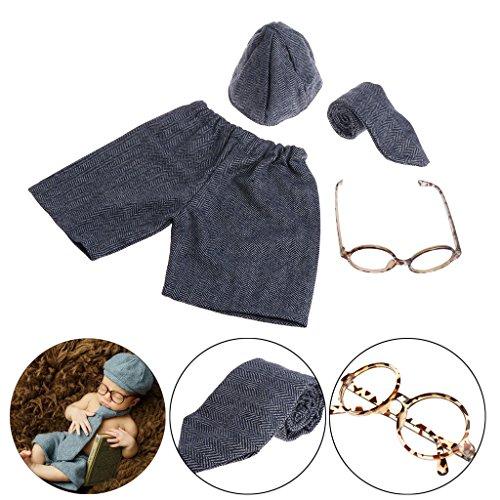 LDA GET Fresh Baby Boy Gentleman Set Kostüm Kleidung für Neugeborene Fotografie Requisiten
