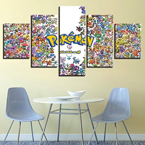 superljl Leinwand Malerei Wandkunst HD Drucke 5 Stücke Animation Hause Dekorative Jungen Zimmer Modulare Cartoon Bilder Kunstwerk Poster -