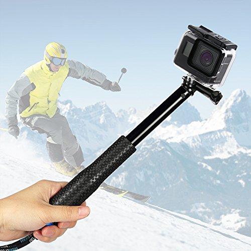 Selfie Stick für GoPro, Erweiterbar Self Portrait Wasserdicht Aluminium Selfie Stick Pole Handheld Monopod Pole für GoPro Hero 5 , Hero 4, Session, 3+, 3 und andere Action Cam,ideal für Surfen, Ski, Tauchen, Reisen und vieles mehr