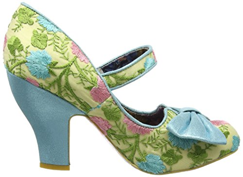 Irregular Choice Damen Fancy This Mary Jane Halbschuhe Blue (Blue Floral)